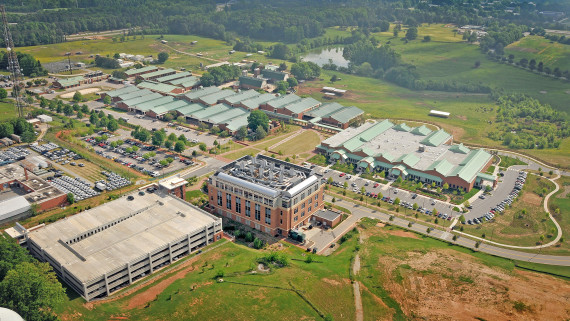 NC State CVM Aerial View of College