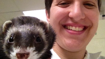 Student and ferret