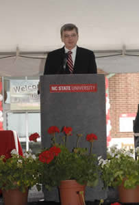 Interim Dean David Bristol told the audience what the Terry Center will mean to the CVM