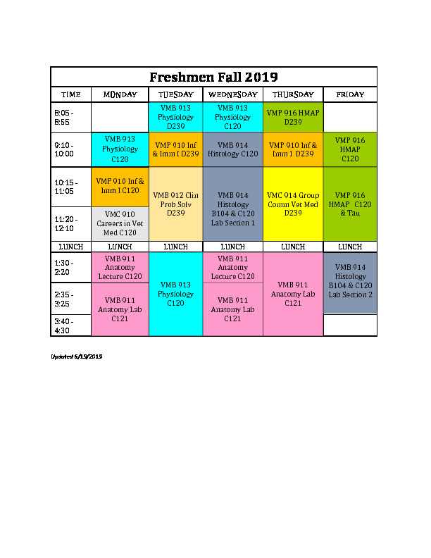 Uncg Final Exam Schedule Spring 2020.Calendars Schedules Nc State Veterinary Medicine