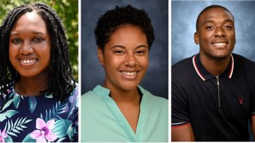 From left: PetDesk scholarship recipients Safari Richardson, Shayla Jackson and Kier Way